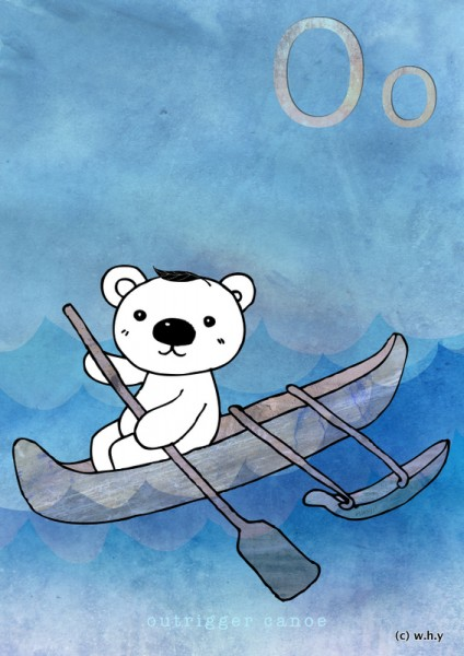 outrigger canoe bear