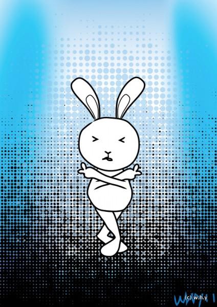 finger-crossed bunny