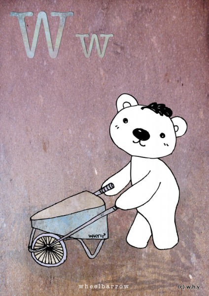 wheelbarrow bear