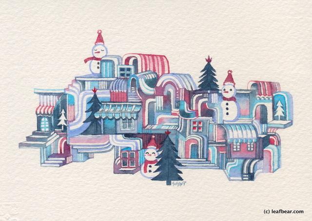 Snowman Town #1