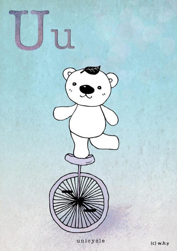 Unicycle Bear