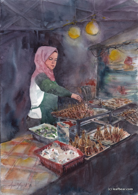 Satay Stall at Night Market