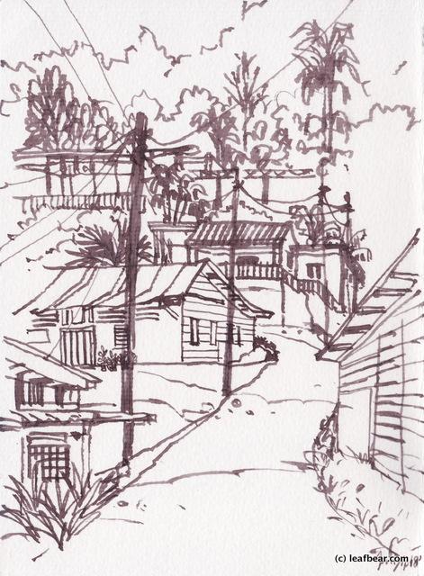 神龍岩 木屋